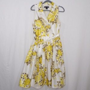 Jessica Howard Collared Yellow Floral Spring Dress
